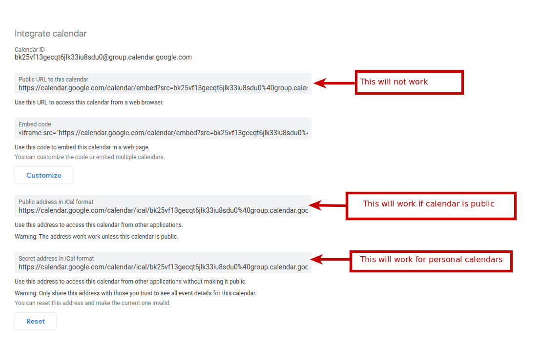 google-ical Frequently Asked Questions