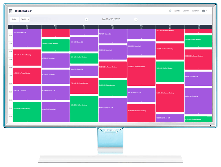 Appointment Calendar App by Bookafy.com | Try it Free today!
